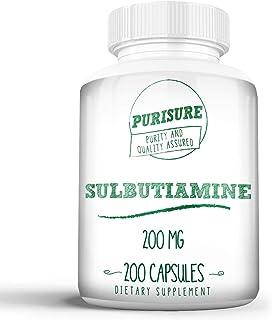 Purisure Sulbutiamine 200mg (200 Capsules) Nootropic Cognitive Enhancer Reduce Fatigue Enhance Memory, Learning, Focus, Co...