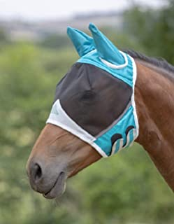 Shires Fine Mesh Horse Equine Fly Mask with Ears 60% UV Protection