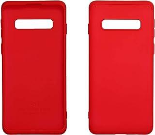 جراب ظهر حماية 360 درجة مجموعة من 3 لسامسونج جالاكسي S10 من جي كي كي - احمر