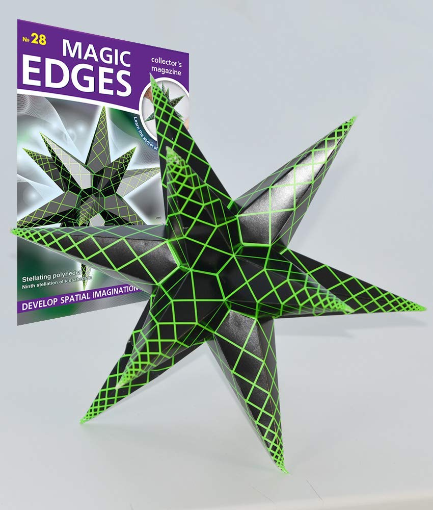Polyhedra 3D Paper Model Kit Sixth Stellation of Icosahedron Polyhedr Magic Edges Issue 20 We create models of polyhedra.