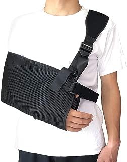 Arm Sling Lightweight Shoulder Immobilizer, Adjustable Rotator Cuff Elbow Wrist Support Brace for Broken, Fractured Bones, for Left, Right Arm
