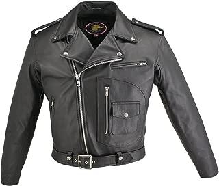 Men's D Pocket Horsehide Motorcycle Jacket