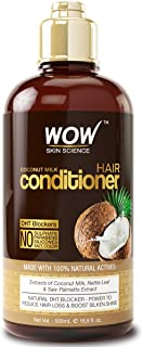 WOW Coconut Milk Hair Conditioner - Restore Dry, Frizzy, Tangled Hair to Stronger, Full, Shiny Hair - Stimulate Hair Growth - Paraben, Salt, Sulfate Free - All Hair Types, Adults & Children - 500 mL
