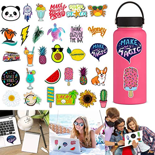 Stickers for Water Bottles Big Water Stickers Bottles Big Cute Waterproof Aesthetic Trendy Stickers for for Teens,Girls Perfect for Waterbottle,Laptop,Phone,Travel Extra Durable