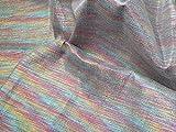 Minerva Crafts Denim-Stoff, Lurex, Regenbogenfarben,