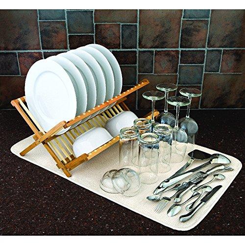 Envision Home à l'esprit Home en microfibre Tapis d'évier, Jumbo, 18 par 81,3 cm, crème