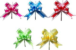 100Pcs Yards Decoration Shimmer Sheer Wrapping Thanksgiving Totally Pull Bow Craft 4.4cmx75cm Plastic
