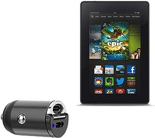 Carregador de carro Kindle Fire HD 7 (2ª geração 2012), BoxWave [Mini carregador de carro PD duplo] Rápido, 2 carregadores...