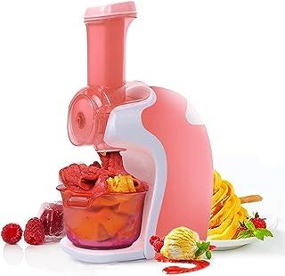 BJH Machine à crème glacée avec Bols à crème glacée, Sorbet de Machine à yogourt glacé à Usage Domestique Portable pour Fr...