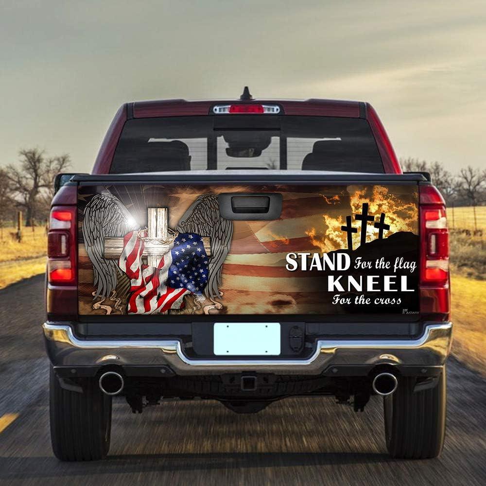 FLAGWIX trend rank Truck Decals-Patriotic Cross Jacksonville Mall Tailgate Dec American