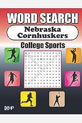 Word Search Nebraska Cornhuskers: Word Find Puzzle Book For All Nebraska Fans Paperback