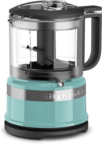 new arrival KitchenAid KFC3516AQ high quality 3.5 Cup Mini Food Processor, lowest Aqua Sky Blue sale