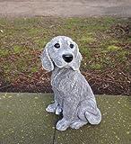Steinfigur Hund Beagle, Frostfest bis -30°C, massiver Steinguss