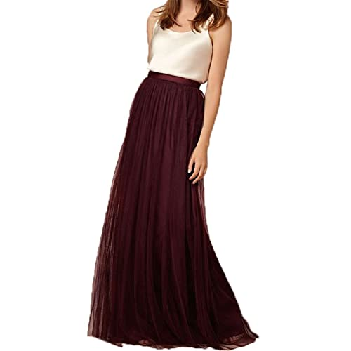 55c7b12867 Omela Women Long Maxi Skirts 3 Layers Tulle Wedding Prom Party Dress