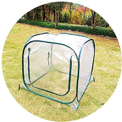 HWLL Mini Carpa de Invernadero Emergente, con Cubierta Transparente de PVC, Refugio Portátil para Carpas de Flores para Jardín Al Aire Libre Patio Trasero