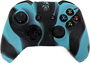 REYTID Camo Blue/Black Xbox ONE Controller Skin Silicone Protective Rubber Cover Gel Grip Case - Microsoft 1 Gamepad Pad C...