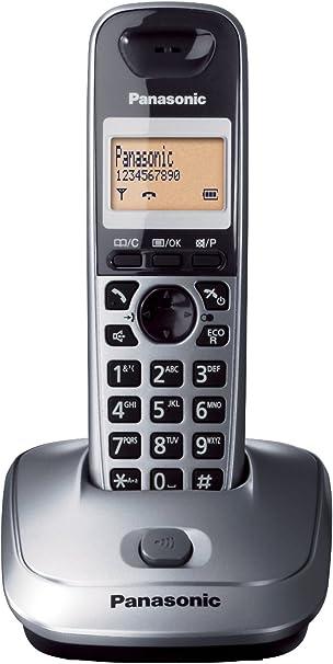 Panasonic KX-TG2511SPM - Teléfono DECT Inalámbrico (Alarma, Pantalla LCD monocroma, Capacidad de lista de direcciones: 50, Remarcado), Gris [versión importada]: PANASONIC: Amazon.es: Electrónica