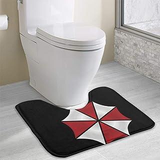 トイレマット エコ BIOHAZARD 環境 保護 オリジナル プリント 洗える 滑り止め 敷物 ふかふか 抗菌 やわらか ふく楽 トイレ マット 吸水速乾 おしゃれ