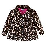 Mud Kingdom Baby Girl Fleece Jacket Coat Leopard Yellow 6 Months