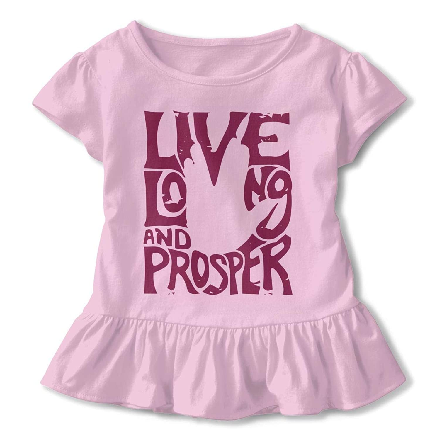 SDHEIJKY Live Long and Prosper Baby Girl Ruffle T-Shirt Halloween Thanksgiving Christmas Birthday Present 2-6T Top Tee