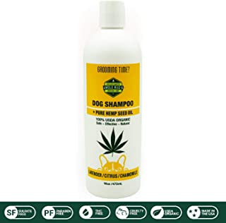 Uncle Bud's All Natural Hemp Dog Shampoo SOOTHES and MOISTURIZES Dry Skin PARABEN Free, SULFATE Free, GMO Free