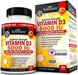 Vitamin D3 5000 IU Dr Approved - Vitamin D Supplement for Immune Support Healthy Muscle Function & Bone Strength - with Olive Oil for Highest Absorption - Natural Gluten Free & Non-GMO -1 Year Supply