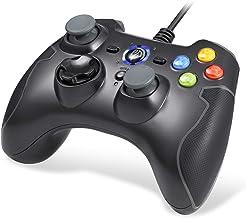 EasySMX Mandos PS3, [Regalos Originales] Gamepad Gaming, Mandos PC, Contoller Controlador de Juegos con Cable Joysticks Doble para Windows/Android / PS3 / TV Box/PC