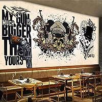 QQYYYT ウォールアートポスター-3D壁紙レトロノスタルジックグラフィティフォト壁画レストランカフェバーKTVウォールフォトペーパーポスターウォールデコレーションペインティング
