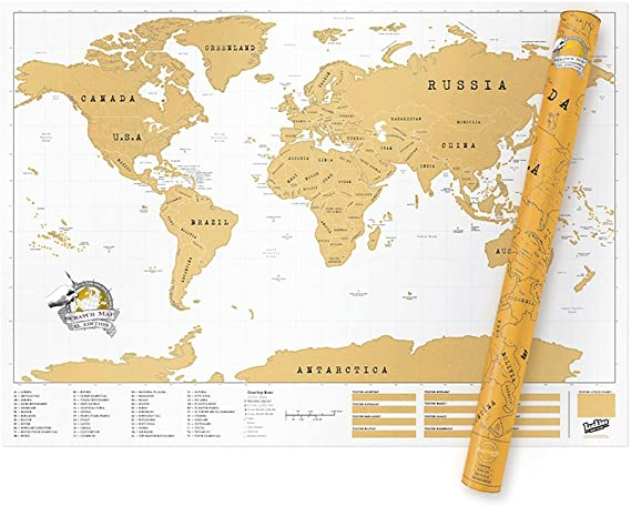 Luckies Mapa Mundo XXL, Multicolor, 84 x 119 cm: Amazon.es: Hogar