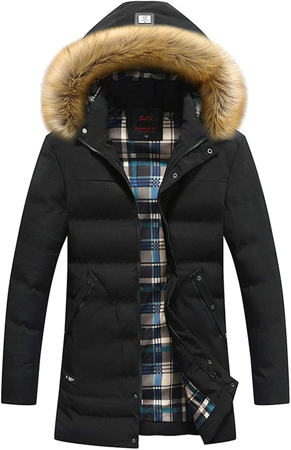New Down Jacket, Men's Long Hooded Jacket, Winter Outdoor Lightweight Warm Clothing, Suitable for Cold Weather