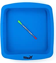 "TitanOwl Silicone Deep Dish Container Cake Pan Aprox 8""x8"" + Carving Scrape Tool. Baking Bakeware Brownie"