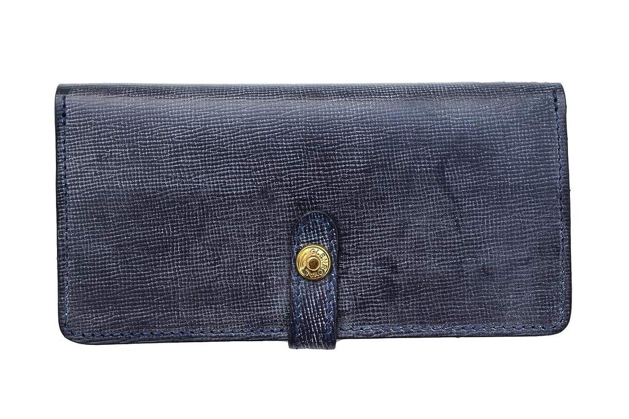 近々数値[グレンロイヤル]GLENROYAL ROUND LONG WALLET SAFFIANO ラウンドロングウォレット サフィアーノ DARK BLUE