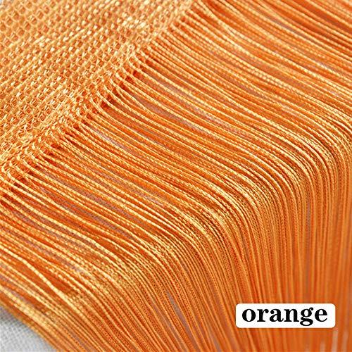 cortinas flecos hilo naranja
