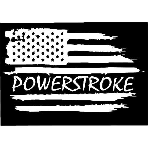 Powerstroke American Flag Vinyl Decal StickerPowerstroke Truck Decals