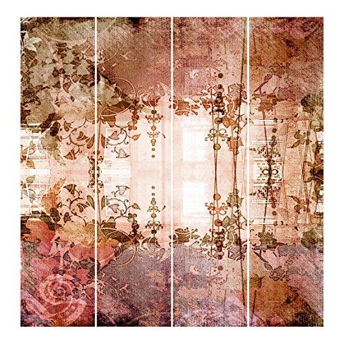 Bilderwelten Schiebegardinen Old Grunge - 4 Flächenvorhänge Ohne Aufhängung, 4X á 250 x 60cm