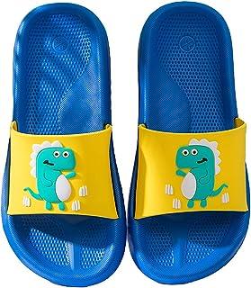 ChayChax Zapatillas de Baño para Niñas Niños Ligero Zapatos de Playa y Piscina Verano Chanclas de Casa Antideslizante Dino...