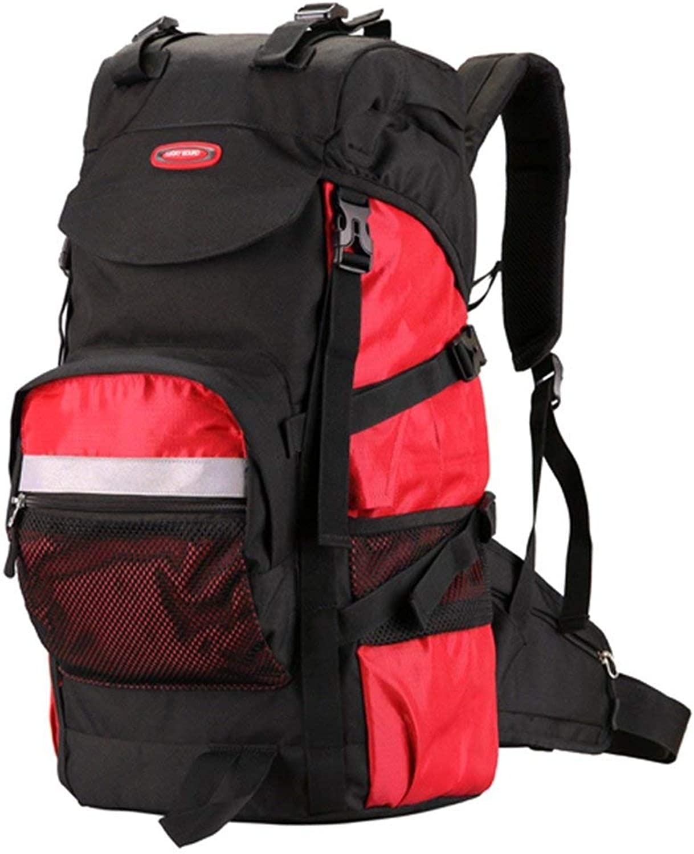ZLL Trekkingruckscke , Wanderruckscke-Outdoor Casual Wanderrucksack, Rot Wasserdichter Rucksack Sport Travel Trekking Running damen Mens,45L