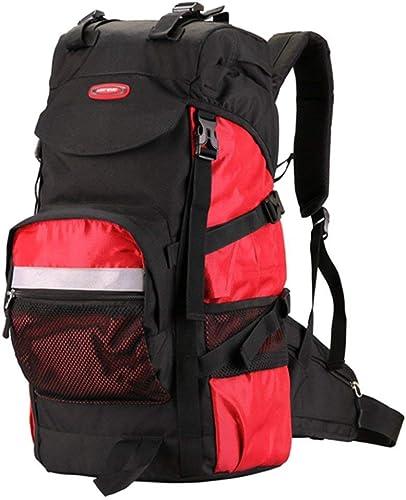 ZLL Trekking sac à doss Back Sac à dos de randonnée, sac à dos de randonnée décontracté, sac à dos imperméable rouge Sport Voyage Trekking FonctionneHommest femmes Pour des hommes,45L