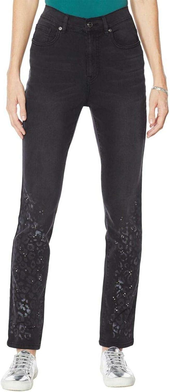 DG2 by Diane Gilman Women's Petite Printed Jeans. 710561-Petite