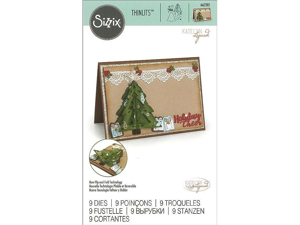 Sizzix 662281 Thinlits Die Set - Christmas Tree, Flip and Fold, 9PK quvanpixsp