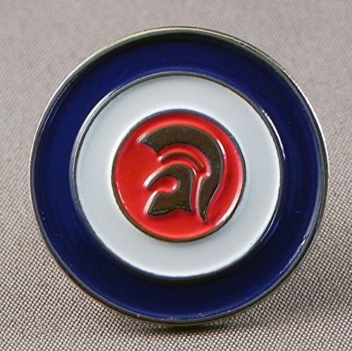 Metal Enamel Pin Badge Brooch MOD Scooter Trojan Skinhead by Mainly Metal