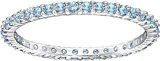 Swarovski Vittore Rhodium Plated Crystal Stacking Ring - Size 19 mm