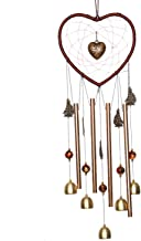Monrocco Wind Chime Outdoor,Heart Dream Catcher Aluminum Chime,A Great Gift for Yard, Patio, Balcony,Garden Window Decoration