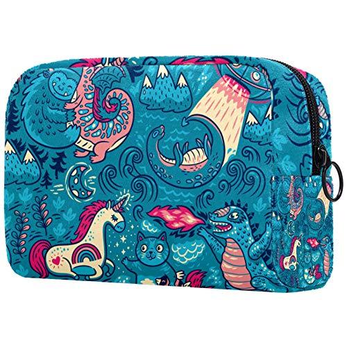 Bolsas de aseo de viaje organizador de cosméticos para mujer con cremallera bolsa de maquillaje náutico, mapa pirata calavera