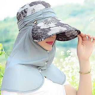 WN - Sombrero - Señoras Sombrero para el Verano para el Verano Sombrero para el Sol Plegable al Aire Libre a Prueba de Viento Facial Sombrero para Montar en vehículos Vehículo eléctrico Sombrero para