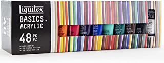 Liquitex BASICS 48 Tube Acrylic Paint Set, 22ml