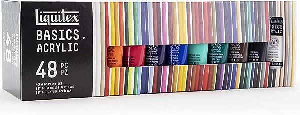 Liquitex BASICS 48 Tube Acrylic Paint Set 22ml