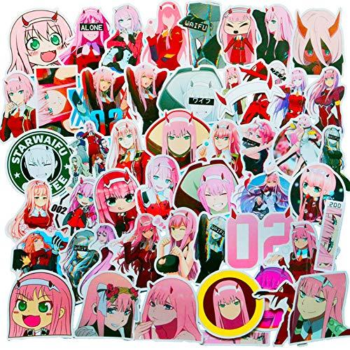 QIANGWEI Stickers, 50 stuks, cartoon, doe-het-zelf, motorfiets, bagage, telefoon, gitaar, koelkast, laptop, waterdicht