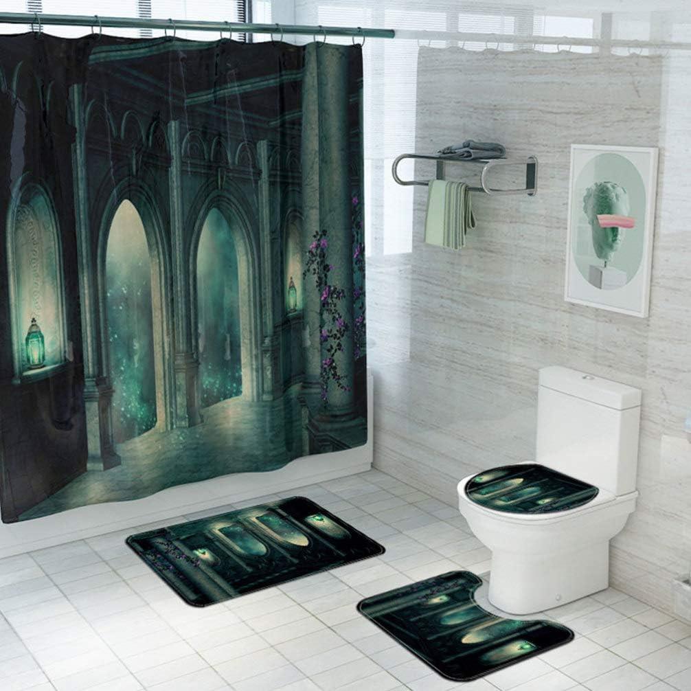 Sales for sale TOYANDONA Halloween Shower Curtain Bath Large-scale sale Horr