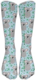 N / A, Cute Bear Koalas Crew Sock Crazy Socks Tube Calcetines altos Novedad Divertida Luz delgada para adolescentes Niños Niñas 50 cm / 19.7 pulgadas